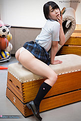 Minano Ai Astride Bench Skirt Raised Ass Exposed