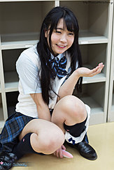 Minano Ai Sitting On Floor In Uniform Panties Down Cum On Her Hand