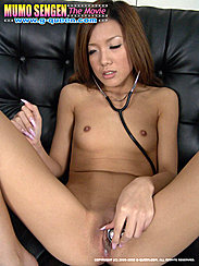 Yua Ando Listening To Her Shaved Pussy With Stethoscope Small Breasts