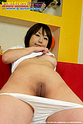 Norika Makihara Looking Down Over Bare Left Breasts Panties Down Her Thighs Shaved Pussy And Pussy Cleft Exposed