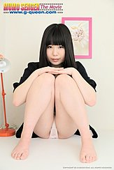 Sitting With Her Legs Raised Hands On Her Knees Showing Panties Bare Feet