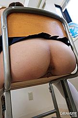 Bare Japanese Teen Ass On School Chair