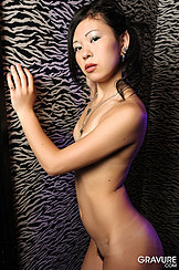 Naked Against Wall Arm Raised Covering Her Breasts Pussy Hair