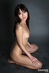 Kneeling Naked On Floor Looking To Her Side Small Tits Hands Planted On Her Knees
