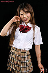 Long Hair Down Over Her Kogal Uniform Wearing Short Plaid Skirt