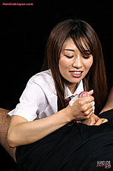 Looking Down Long Hair Framing Her Face Kogal Gives Handjob Cum Shooting Over Her Hand
