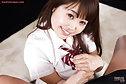 Student Yamashita Ayaka pulls panties down and gives handjob