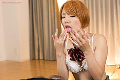 Licking Cum From Her Fingers