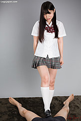 Student Iori Sana Giving Footjob In Uniform Long Hair
