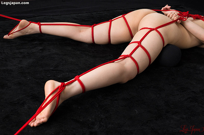 Think, open leg shibari bondage rope really