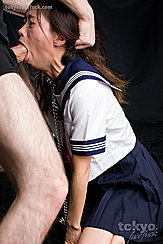 Fucking Her Face Yamada Reika On Her Knees Mouth Wide To Take Cock