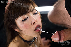 Looking Intentky At Hard Cock Saliva Runs From Her Parted Lips To Head Of Cock
