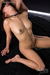 Naked With Cock Down Her Throat Chain Hanging Down Between Her Bare Breasts Bare Feet