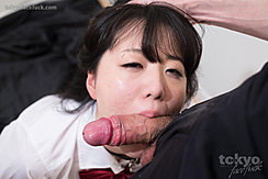 Mouth Wrapped Around Shaft Of Erect Cock