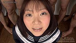 Kogal Yuka Wearing Sailor Suit Uniform