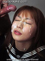 Kogal Saya With Cum Over Her Face