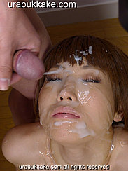 Squirting Bukkake Cum Over Her Face
