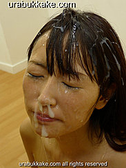 Misa With Her Eyes Closed Hair Matted With Cum Cum Running Down Her Face