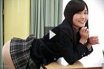 Yui Kasugano Bending Over School Desk And Showing Her Panties