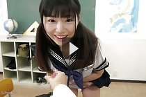 Kogal Ayuri Sonoda showing panties watching student masturbate