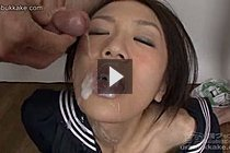 Kogal Mio Sucking Cocks In Uniform And Taking Bukkake Cumshots